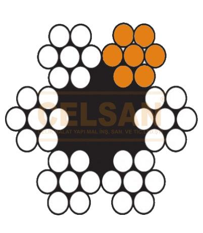 6 x 7 Lif Özlü Çelik Halat